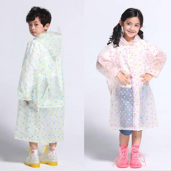 現貨 透明EVA兒童雨衣-共兩色