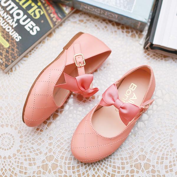 現貨 小香風菱格紋女童娃娃鞋-粉色 女童娃娃鞋,親子鞋,小花童