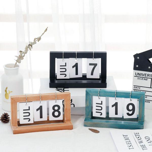 ZAKKA木質翻頁日曆 家居裝飾-共兩色 ZAKKA木質翻頁日曆,家居裝飾-共兩色