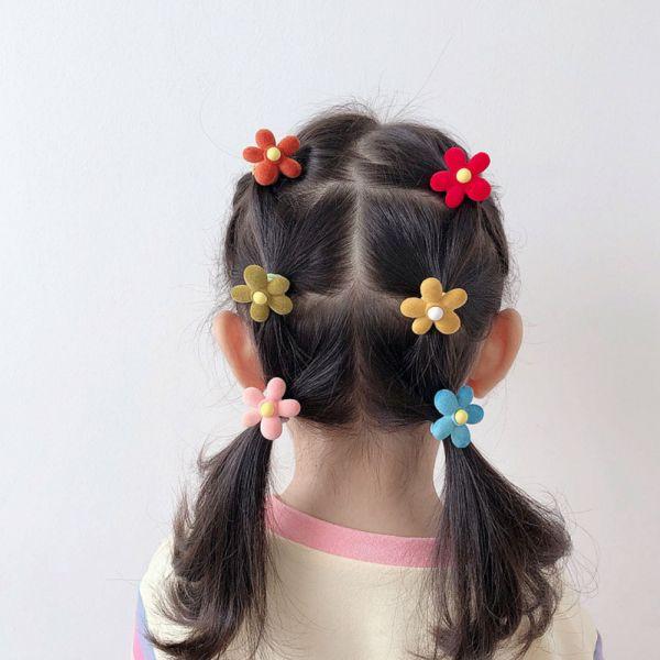 兒童髮圈 不傷髮繽紛植絨髮圈組-共五款 兒童髮圈,不傷髮髮圈,植絨髮圈,女童髮圈,兒童專用飾品