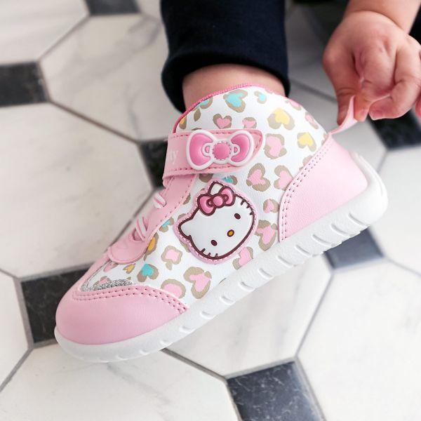 現貨 台灣製HELLOKITTY豹紋低筒休閒鞋-粉色 HELLOKITTY,休閒鞋,台灣製造