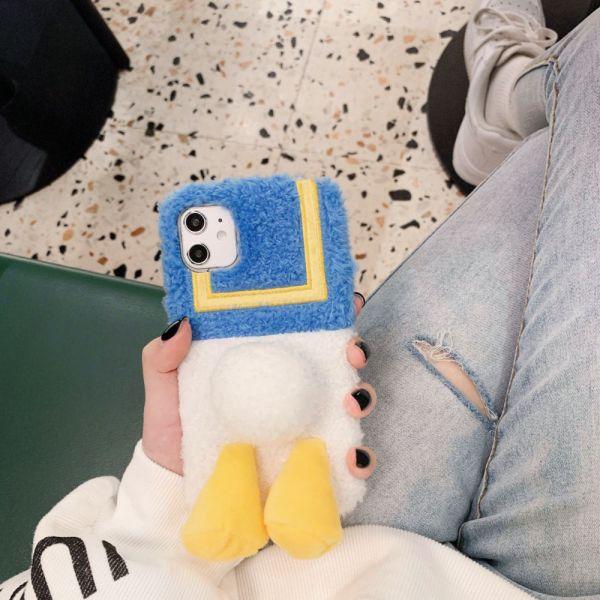 毛絨唐老鴨iphone手機殼-共一色