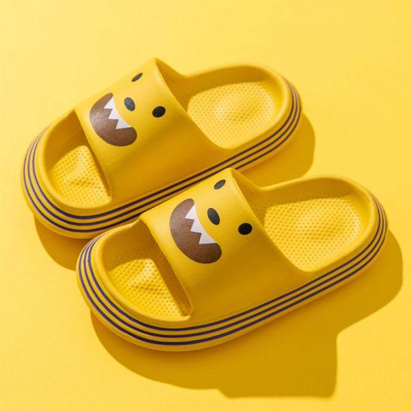 /中大童/小怪獸防水防滑拖鞋-黃色