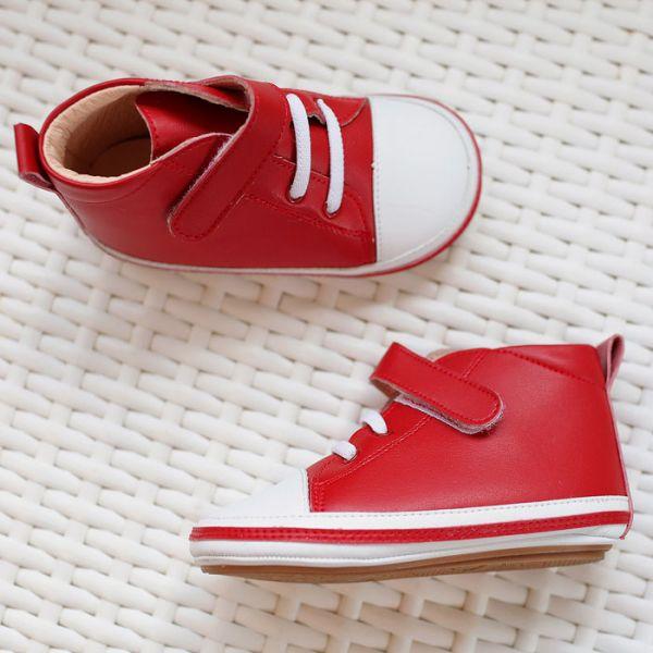 現貨 台灣製 低筒寶寶真皮內裡學步鞋-紅色 學步鞋,台灣製,真皮寶寶鞋
