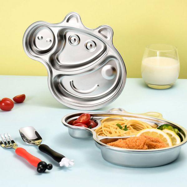 小豬造型 不鏽鋼分格兒童餐盤 不鏽鋼分格兒童餐盤,不鏽鋼餐盤,兒童餐盤,分格餐盤