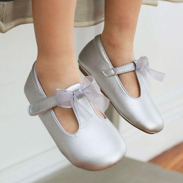 現貨 台灣製夢幻蝴蝶結寶寶鞋娃娃鞋-銀色 現貨,台灣製,蝴蝶結,寶寶鞋,娃娃鞋,學步鞋