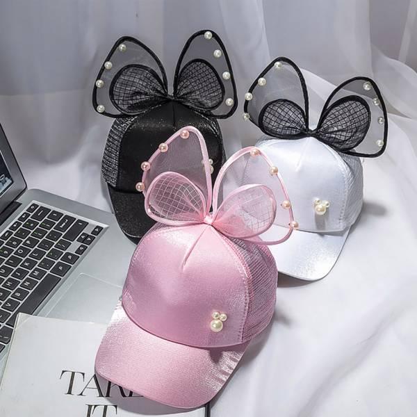 防曬小物 立體蝴蝶結透氣遮陽帽-共三色
