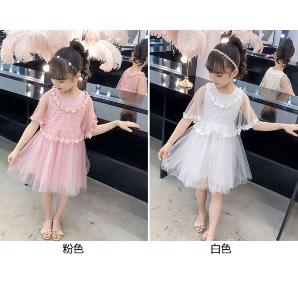 現貨 網紗袖畢業典禮小洋裝-白色 網紗袖畢業典禮小洋裝,小花童,鋼琴表演