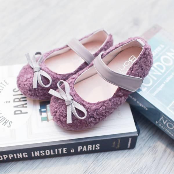 現貨 暖呼呼毛毛寶寶鞋 女童娃娃鞋-紫色 寳寳鞋, 台灣製小童鞋, 女童娃娃鞋,學步鞋,毛茸茸寶寶鞋,冬季熱銷童鞋,可愛鞋款