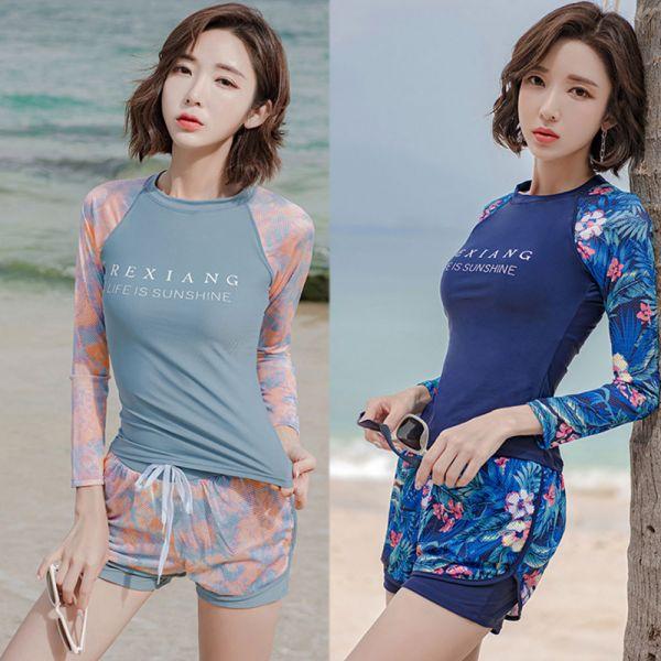 /大人/韓國渡假風 兩件式泳裝-共四款