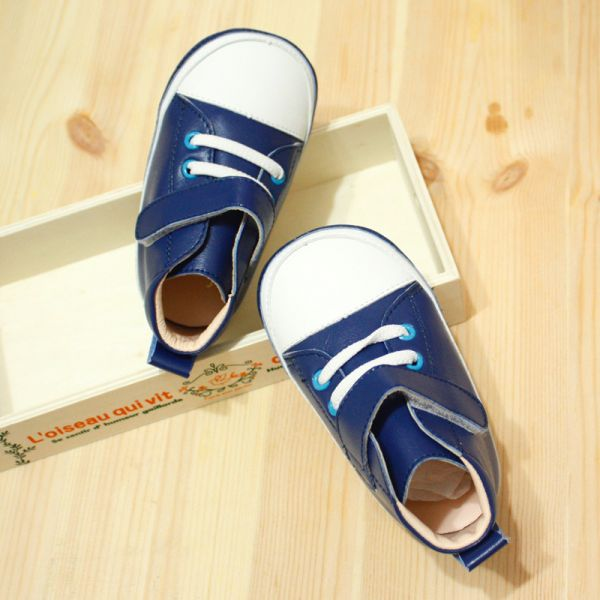 現貨 台灣製 低筒寶寶真皮內裡學步鞋-水手藍 學步鞋,台灣製,真皮寶寶鞋