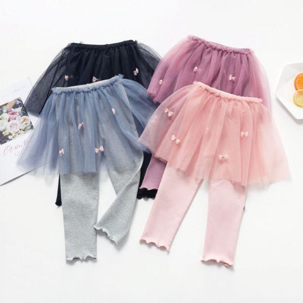 薄款小仙女假兩件紗裙內搭褲-共四色 女童內搭褲,紗裙內搭褲,女童紗裙