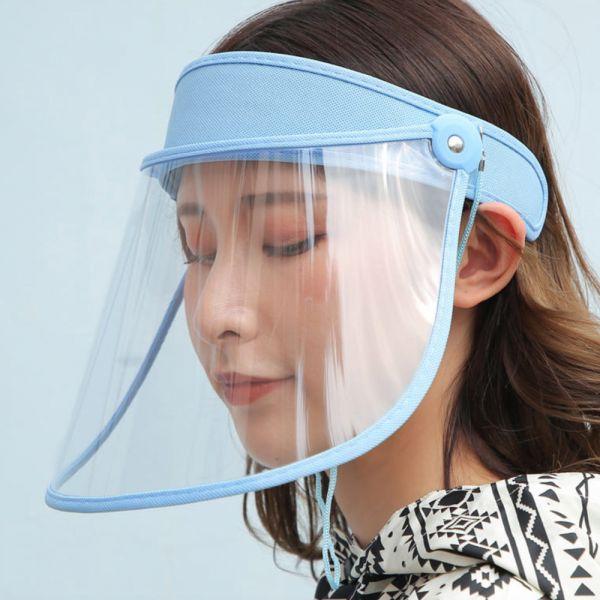 防疫好物 防飛沫透明空頂帽-共五色
