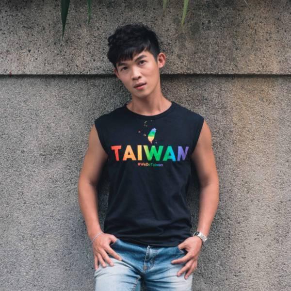 彩虹台灣 黑色背心 金彩台灣,同志,台灣,LGBT,彩虹