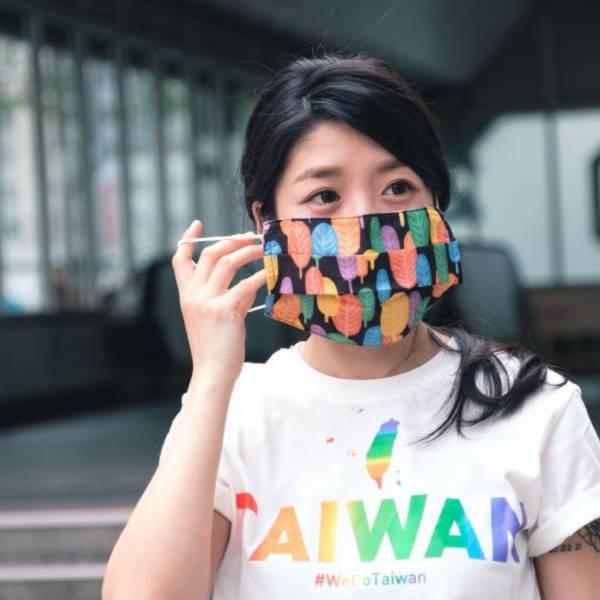 彩虹森呼吸 口罩套 口罩套、防疫、彩虹、平權、同志、台灣、Taiwancanhelp