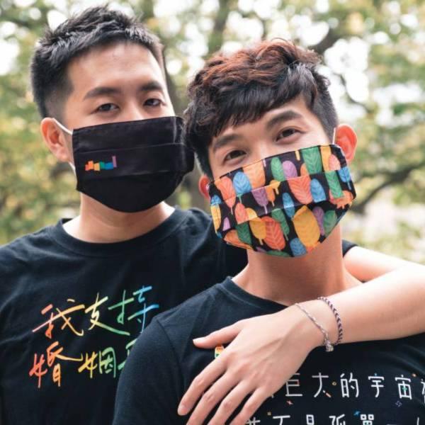 Taiwan Can Help 彩虹口罩套捐贈行動 TaiwanCanHelp、彩虹、LGBTQ、用愛防疫、口罩、口罩套