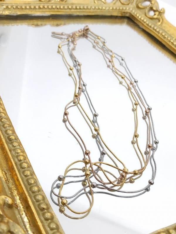 金銀銅三環項鍊