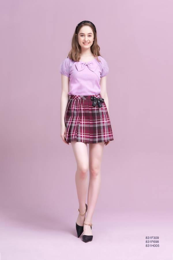 甜美珍珠蝴蝶結飾T恤