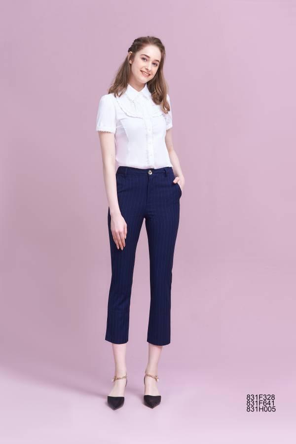 英倫條紋西裝褲