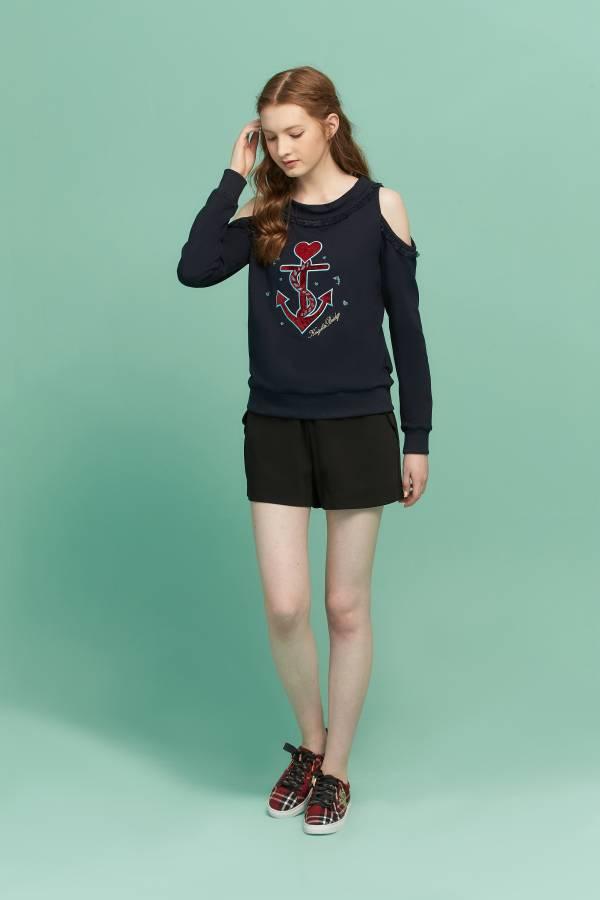 甜美花瓣造型袋蓋短褲 花瓣造型短褲,短褲,造型短褲