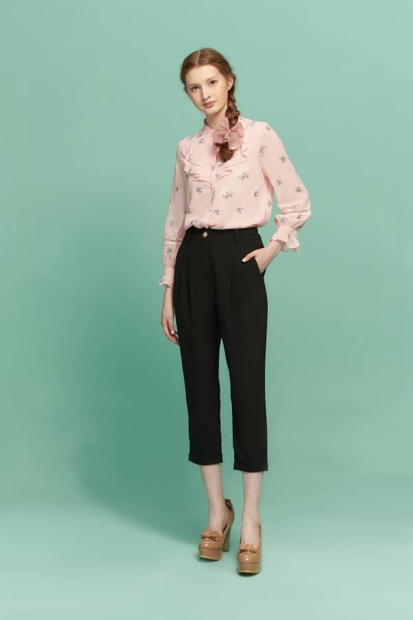 甜美草莓荷葉優雅襯衫 襯衫,甜美襯衫,荷葉邊襯衫