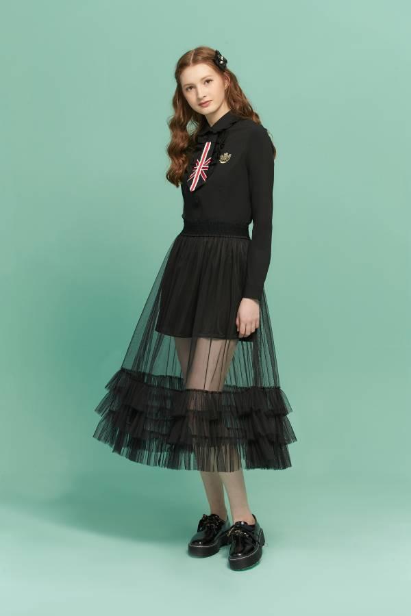 甜美荷葉網紗裙 紗裙,荷葉邊紗裙,荷葉網紗裙,網紗裙