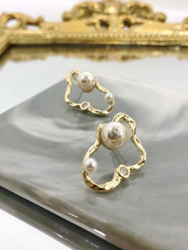 雲朵珍珠耳環