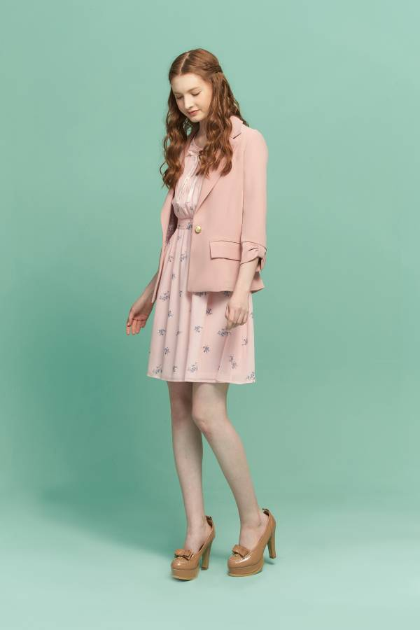 袖口蝴蝶結都會西裝外套 西裝外套,西裝,蝴蝶結,粉色外套,粉色西裝