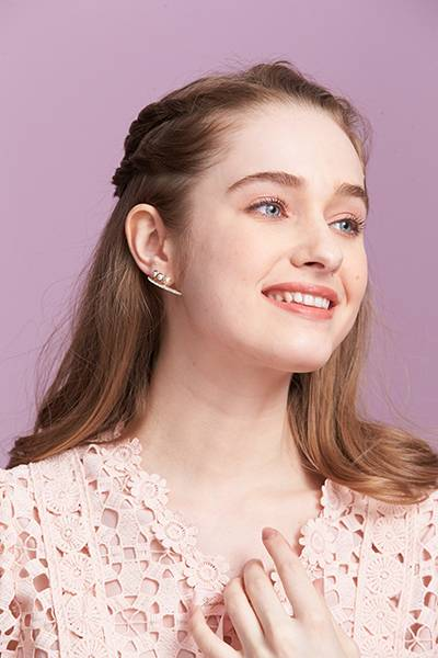 珍珠掛耳耳環