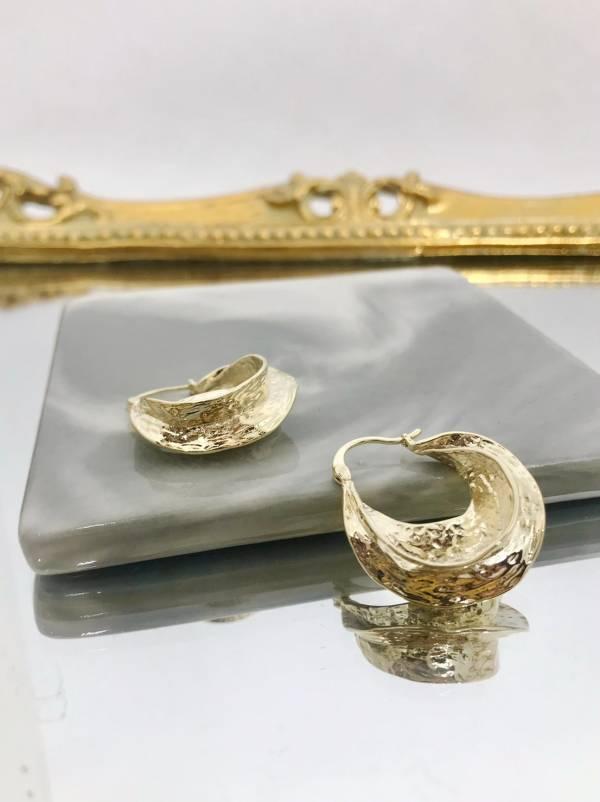 半月型耳環