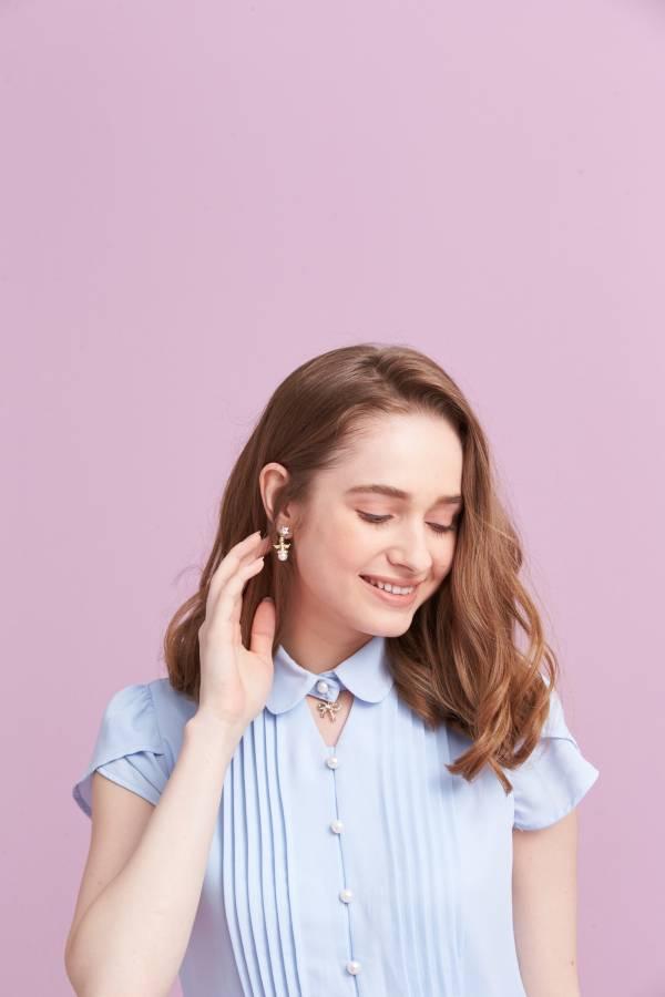 珍珠小天使耳環