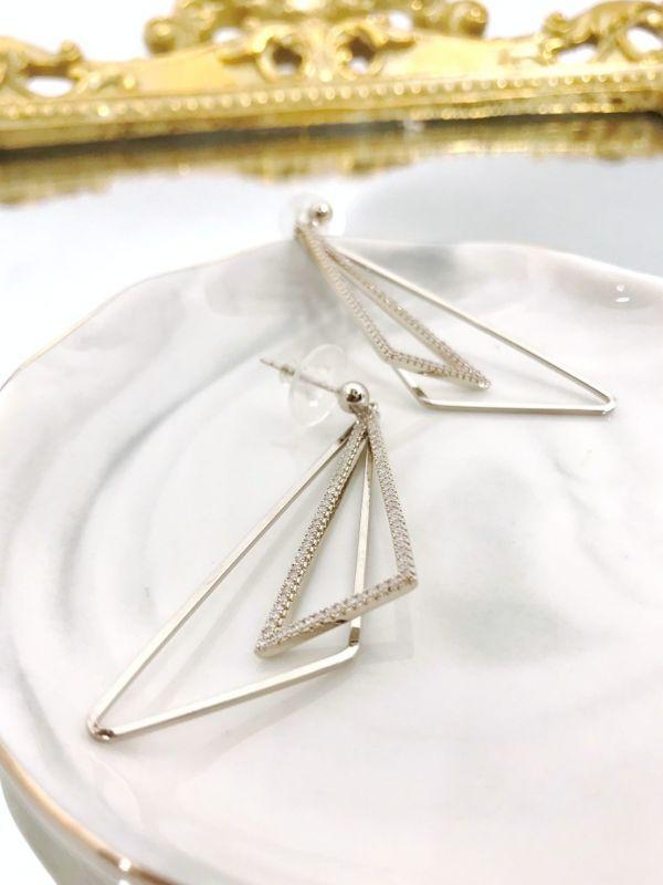 雙三角耳環