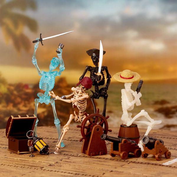 海洋堂 KAIYODO miniQ - 骷髏人海盜 miniQ骷髏人海盜