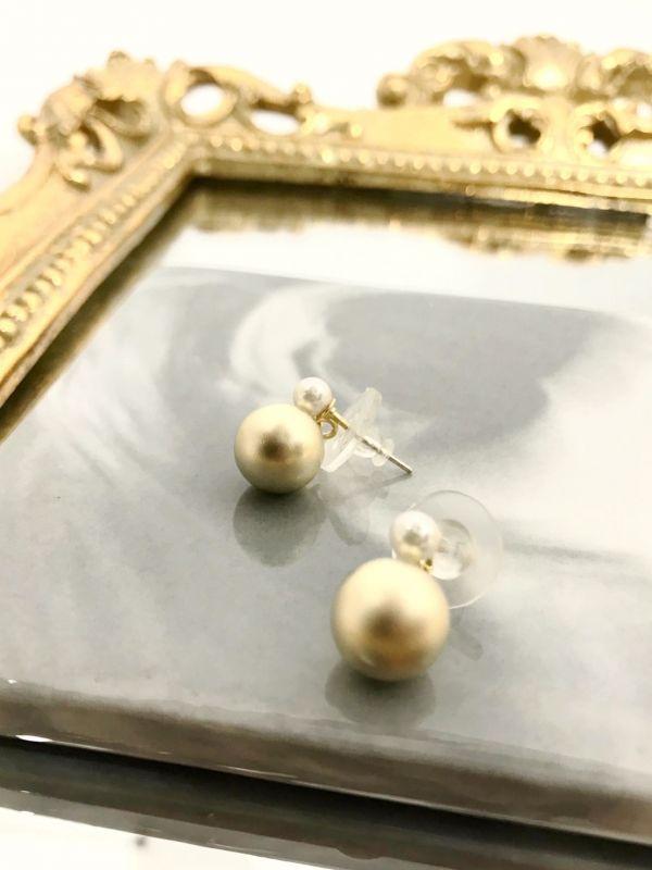 福圓珍珠耳環