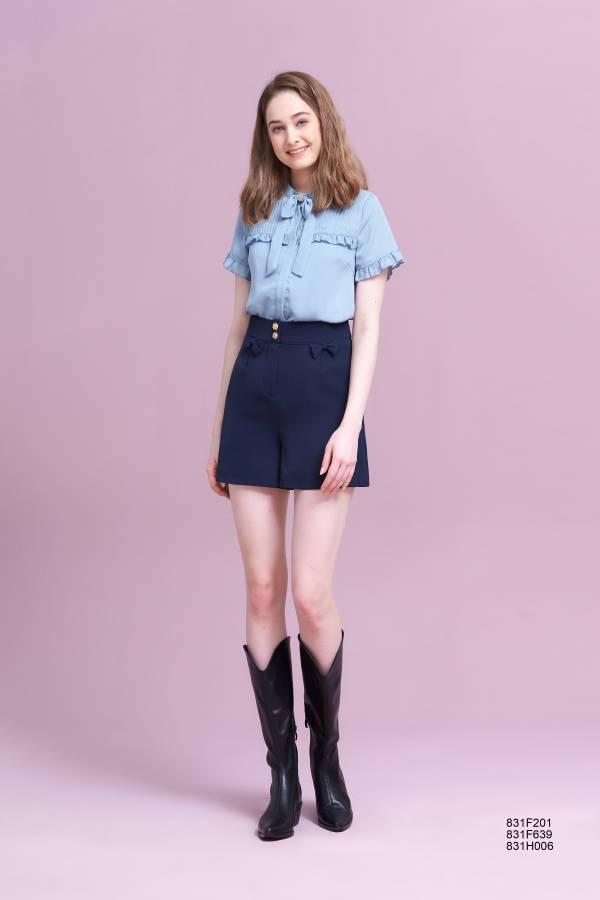 蝴蝶結口袋褲裙
