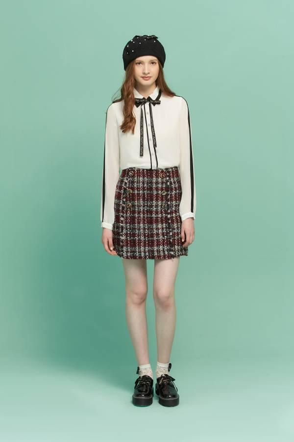 簡約黑白撞色襯衫 黑白襯衫,簡約襯衫,襯衫,白色襯衫,條紋襯衫