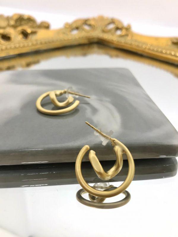 閃電圓圈耳環