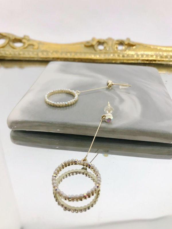圓形鑽鑽耳環