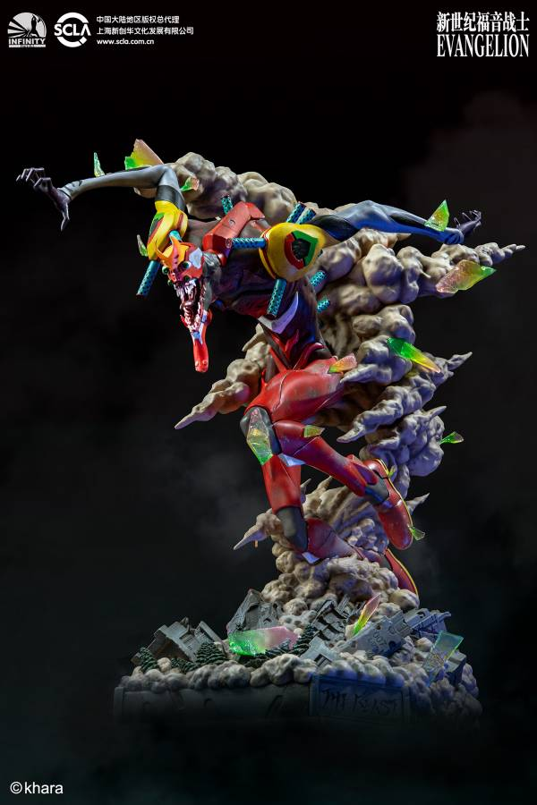 【預購】開天工作室 EVA 新世紀福音戰士EVANGELION 獸化二號機 THE BEAST 雕像(2020年第四季)