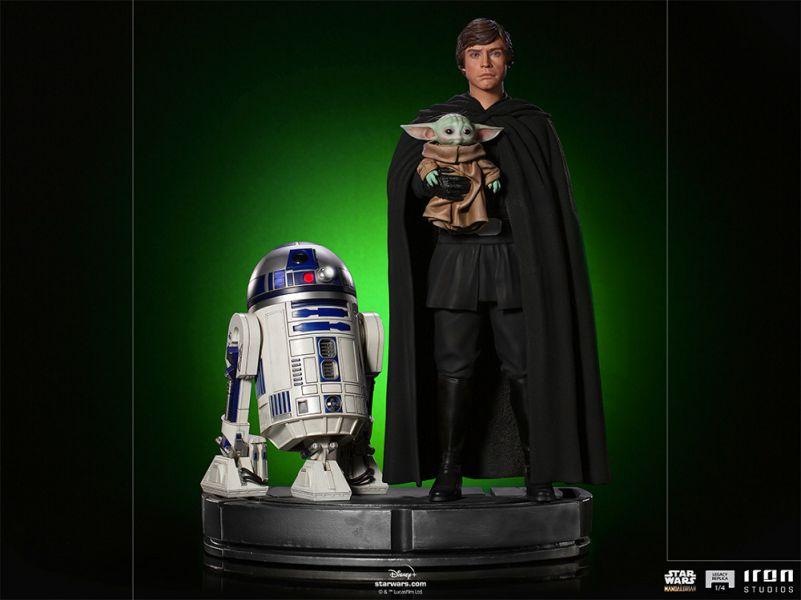 【預購】野獸國 IRON STUDIOS 曼達洛人 路克 天行者&R2-D2&格魯古 LR雕像(2022年第二季)