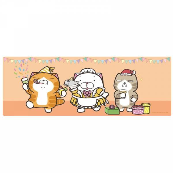【現貨】白爛貓 大型滑鼠墊 橘色款