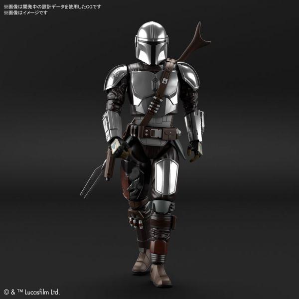 【預購】BANDAI 1/12 曼達洛人 (貝斯卡金屬武裝) 銀色電鍍Ver. 組裝模型 (2021年07月)※不挑盒況