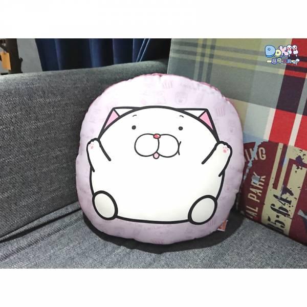 【現貨】白爛貓 胖麻糬抱枕 平面45cm