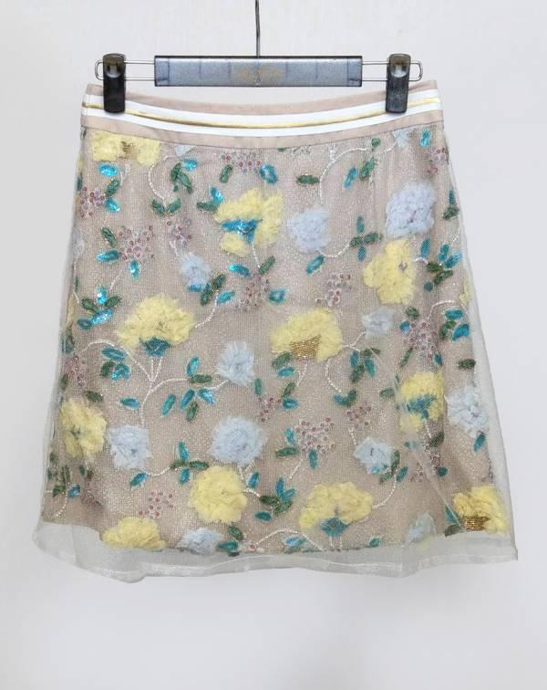 立體繡花短裙