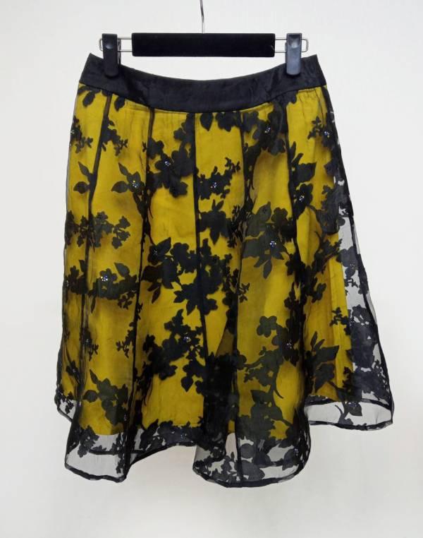 透色燒花短裙