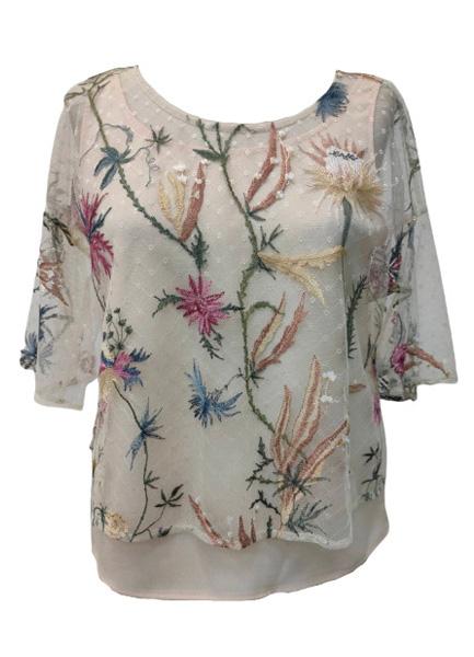 花卉繡花上衣