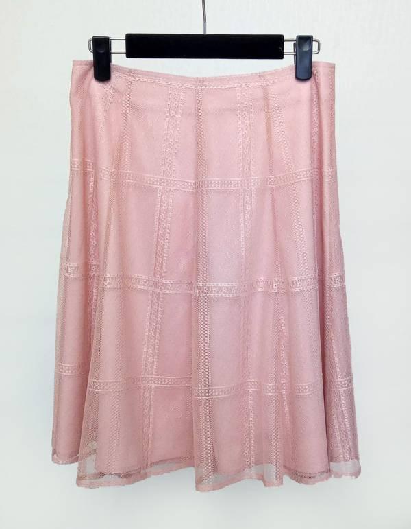 格紋蕾絲短裙