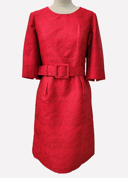 造型荷葉裙片洋裝