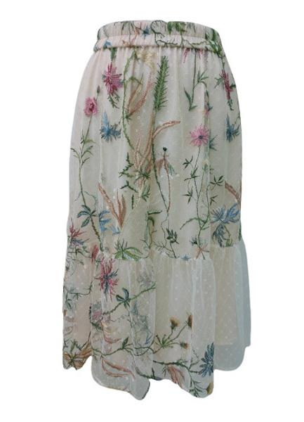 花卉繡花裙