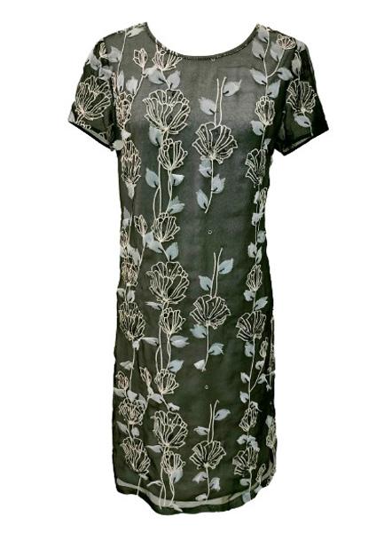 立體花卉繡花洋裝